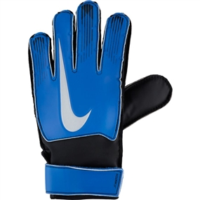 Nike Junior Match Goalkeeper Gloves (Racer Blue/Black/Metallic Silver)