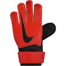 Nike Junior Match Goalkeeper Gloves (Bright Crimson/Black/Metallic Silver)