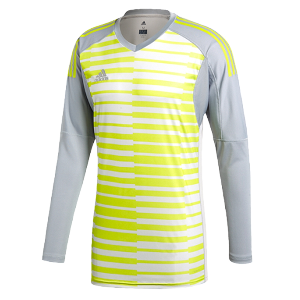 Adidas AdiPro 18 Goalkeeper Jersey (Light Grey Grey One Semi Solar Yellow)  ... 021e4c196