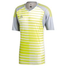 Adidas AdiPro 18 Short Sleeve Goalkeeper Jersey (Light Grey/Grey One/Semi Solar Yellow)