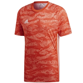 Adidas AdiPro 19 Short Sleeve Goalkeeper Jersey (Semi Solar Red)