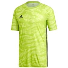 Adidas AdiPro 19 Short Sleeve Goalkeeper Jersey (Semi Solar Green)