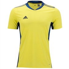 Adidas AdiPro 20 Short Sleeve Goalkeeper Jersey (Shock Yellow/Team Navy Blue)