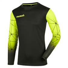 Reusch Match Pro Long Sleeve Padded Goalkeeper Jersey (Black/Lime Green)