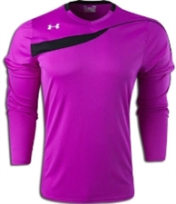 Under Armour Horizontal Long Sleeve Goalkeeper Jersey (Purple/Black)