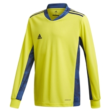 Adidas Youth AdiPro 20 Goalkeeper Jersey (Shock Yellow/Team Navy Blue)