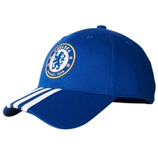 Adidas Chelsea FC 3-Stripes Hat (Chelsea Blue/Dark Blue)