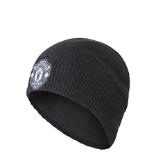 Adidas Manchester United Beanie (Night Grey/Black)