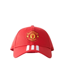Adidas Manchester United FC 3-Stripes Hat (Real Red/White)