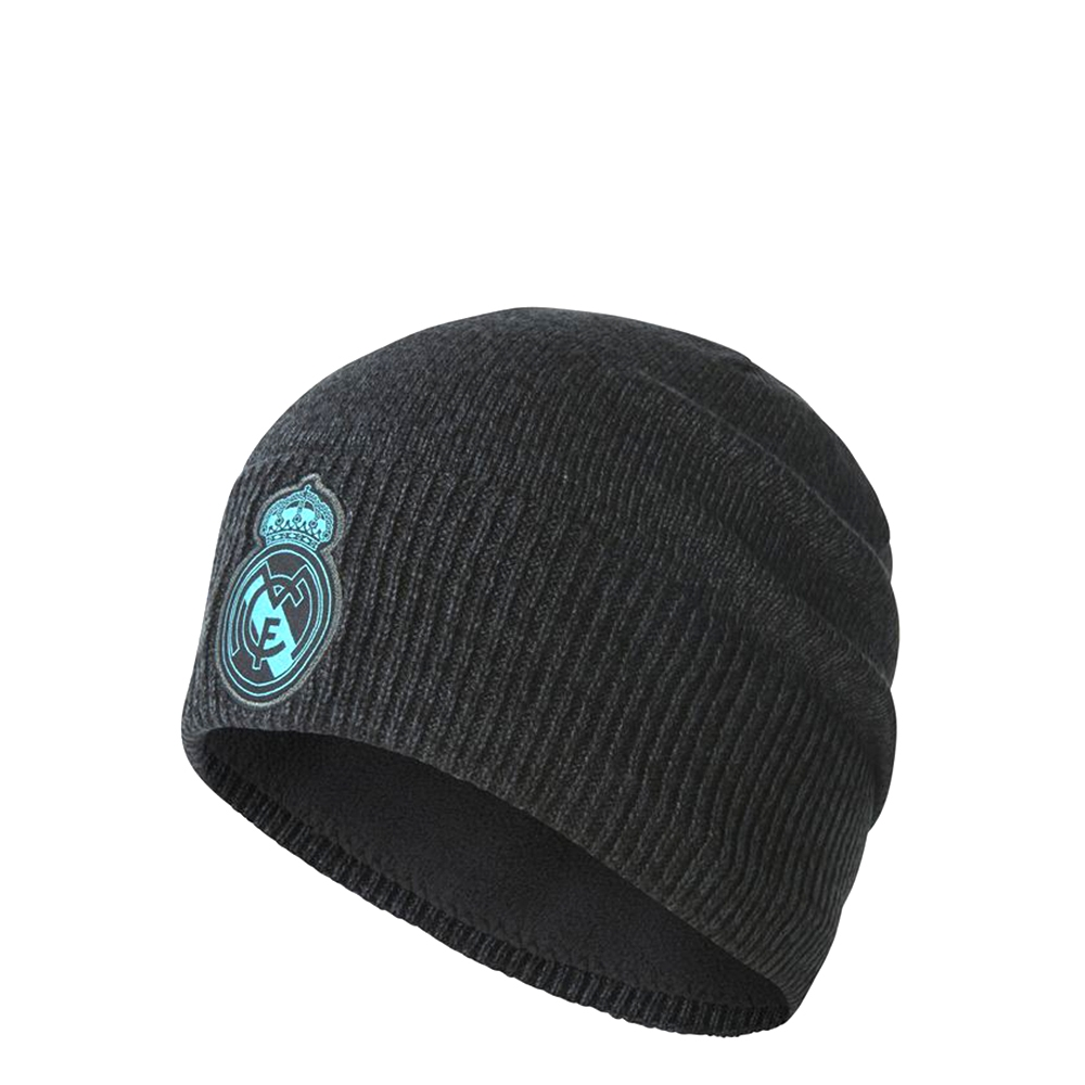 eb1dd9bfe2289 Adidas Real Madrid Beanie (Solid Grey Black Aero Reef)