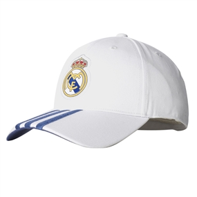 Adidas Real Madrid Home 3-Stripes Hat (Crystal White/Raw Purple)