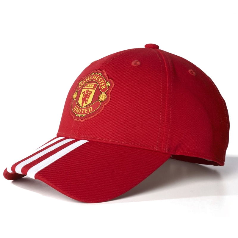 Adidas Manchester United FC 3-Stripes Hat (Real Red University Red ... e5de671534f