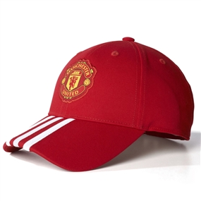 Adidas Manchester United FC 3-Stripes Hat (Real Red/University Red/White)