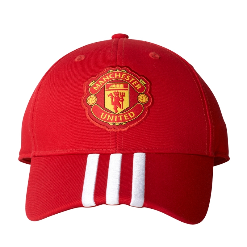 Adidas Manchester United FC 3-Stripes Hat (Real Red University Red ... 6c8379b84e24