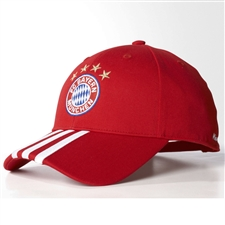 Adidas FC Bayern Munich 3-Stripes Hat (FCB True Red)
