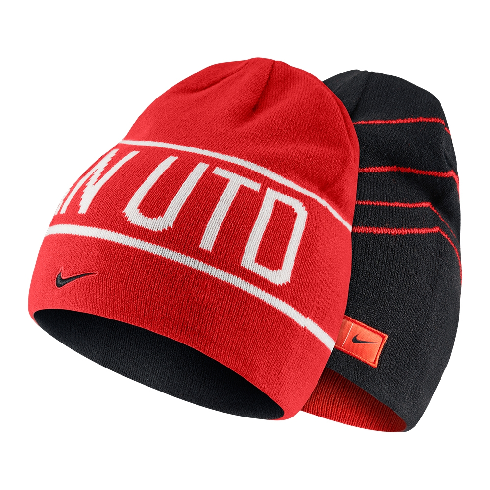 72abc522cb267 ... get nike manchester united soccer knit hat challenge red black white  e4393 d902b