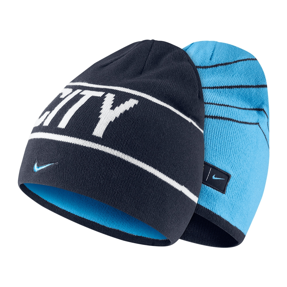 73b75e3f25e ... wholesale nike manchester city fc soccer knit hat obsidian field blue  white ca80e e3636 official store barcelona reversible ...