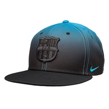 Nike FC Barcelona Gradient 2015 Soccer Hat (Black/Light Blue Lacquer)