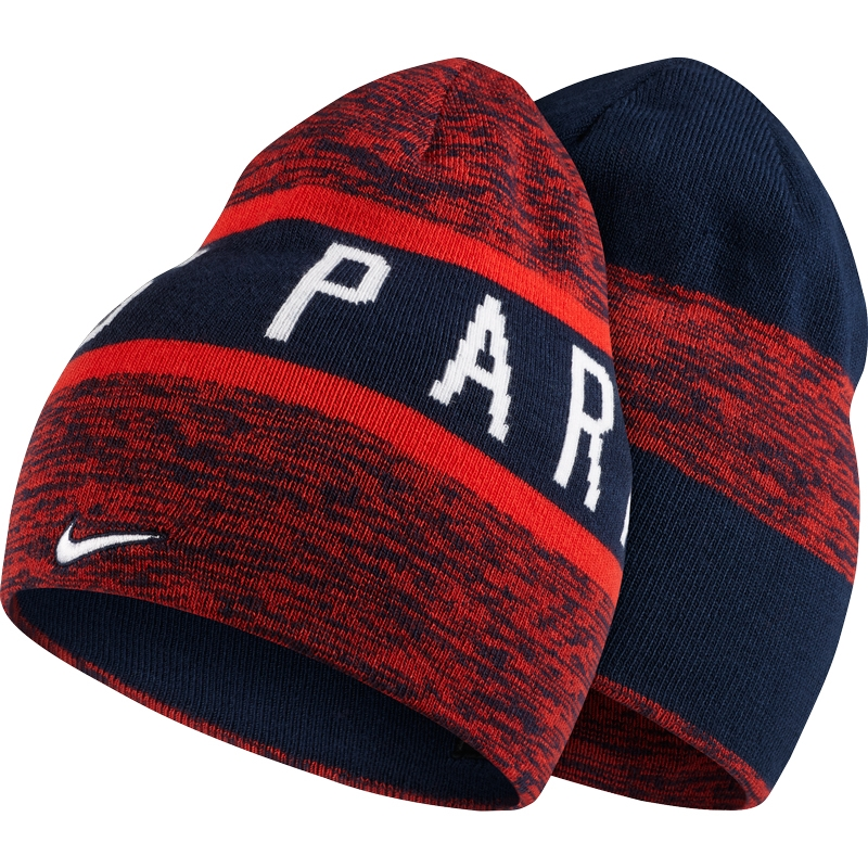 128a2784340 Nike Paris St. Germain Reversible Training Beanie (Midnight Navy Challenge  Red White)