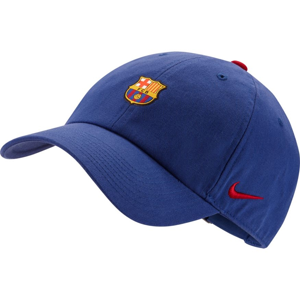 Nike FC Barcelona Heritage 86 Cap (Deep Royal Blue Noble Red Noble Red)  2b3686f99e
