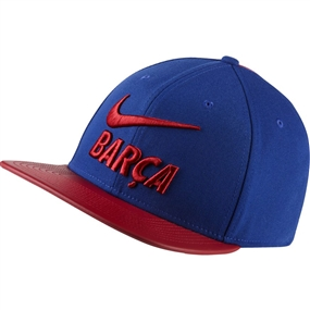 Nike Pro FC Barcelona Adjustable Snapback Hat (Deep Royal Blue/Noble Red)