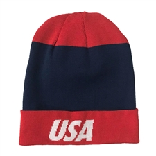 Nike Dry USA Beanie (Midnight Navy/Speed Red/White)