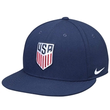 Nike USA Pro Snapback Hat (Blue Void/White)