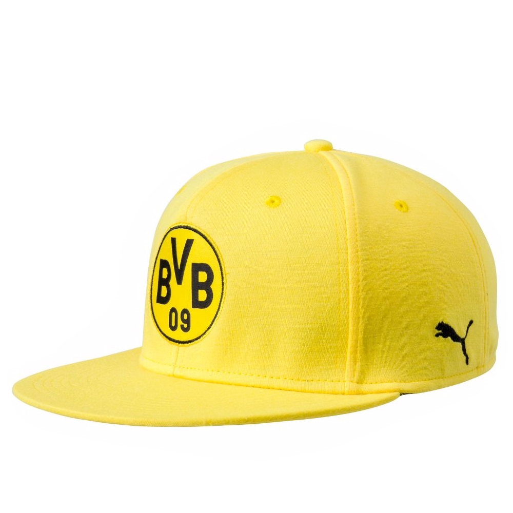 44bf2b1964 Puma Borussia Dortmund Stretch Fit Logo Hat (Cyber Yellow/Puma Black)