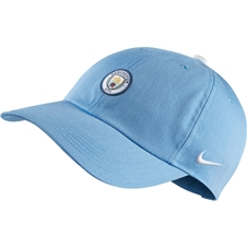 Nike Youth Manchester City FC Heritage 86 Cap (Field Blue/White)