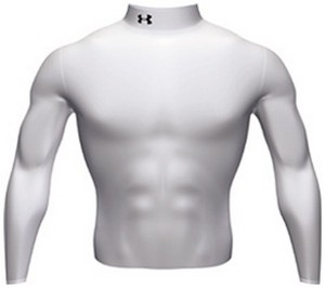 44 99 Under Armour Cold Gear Mock Turtleneck White