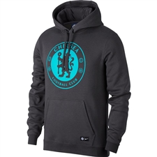 Nike Chelsea Crest Hoodie (Anthracite/Omega Blue)