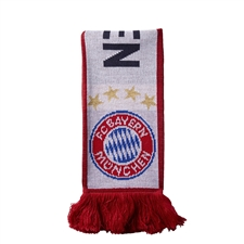 Adidas FC Bayern Munich '15-'16 Scarf (White/Night Navy/Power Red)