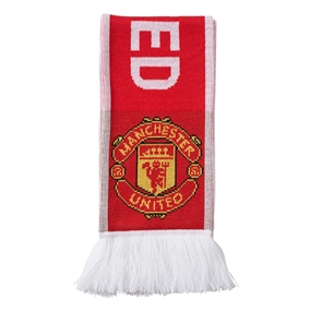 Adidas Manchester United '17-'18 Scarf (Real Red/White)
