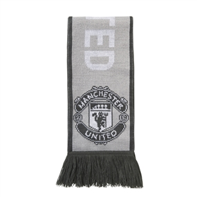 Adidas Manchester United '17-'18 Scarf (Light Solid Grey/Grey/White)