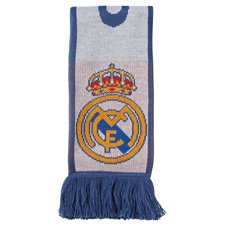 Adidas Real Madrid Home Scarf (Crystal White/Raw Purple)