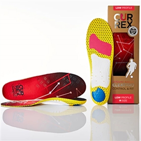 Currex CleatPro Insole - Low Arch (Red)