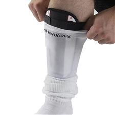 Kwik Goal Shin Guard Compression Sleeves (White)