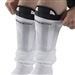 Kwik Goal Shin Guard Deluxe Compression Sleeves (White)