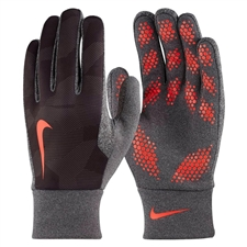 Nike Hyperwarm Youth Field Player Soccer Gloves (Black/Bright Crimson)