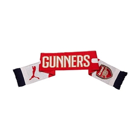 Puma Arsenal Fan Scarf (High Risk Red/White/Estate Blue)