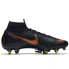 Nike Mercurial Superfly VI Elite SG-Pro Soccer Cleats (Black/Total Orange/White)