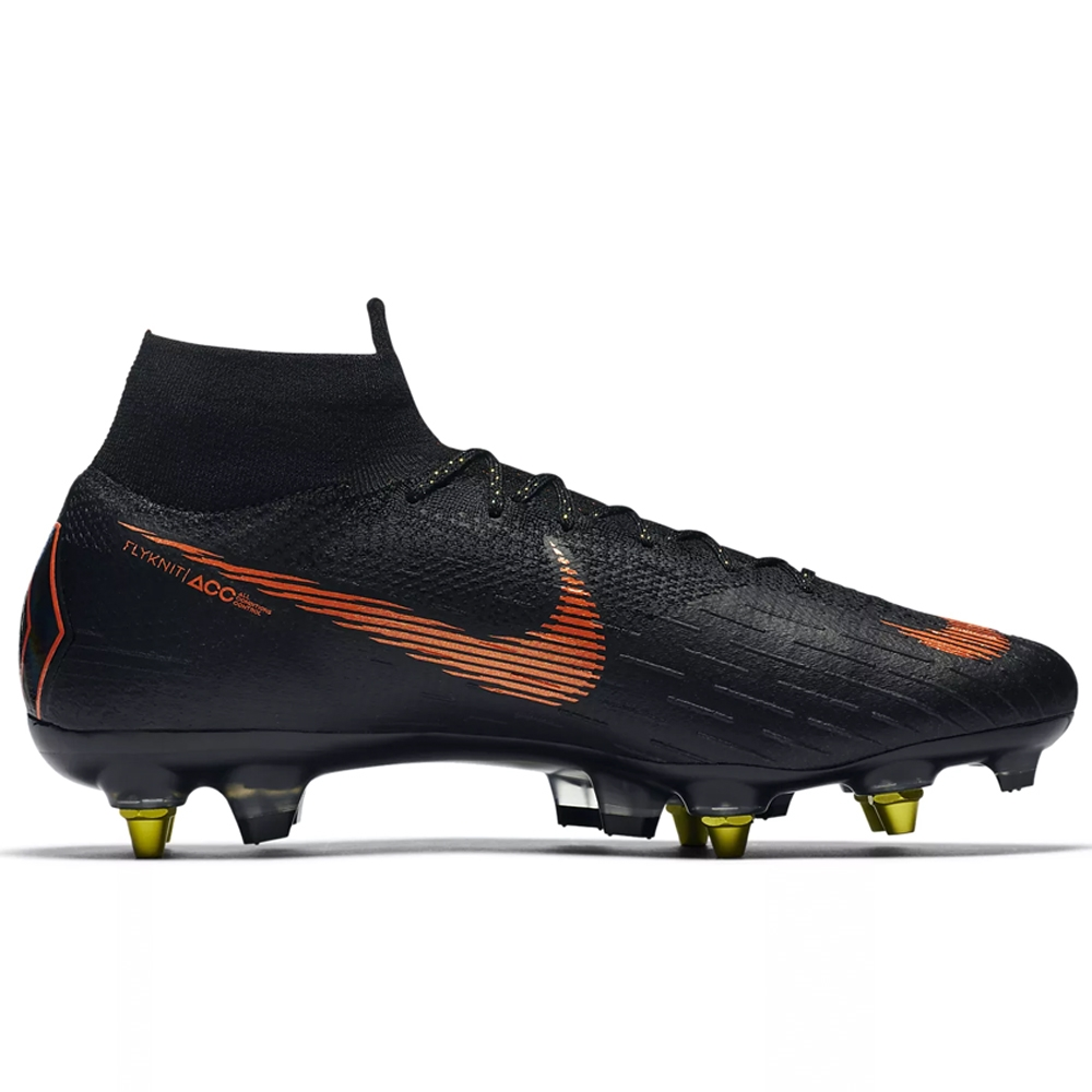 7b78d5f0b Nike Mercurial Superfly VI Elite SG-Pro Soccer Cleats (Black Total ...