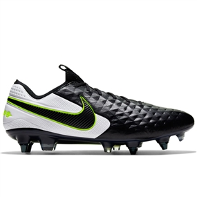 Nike Legend 8 Elite SG-Pro AC Soccer Cleats (Black/White)