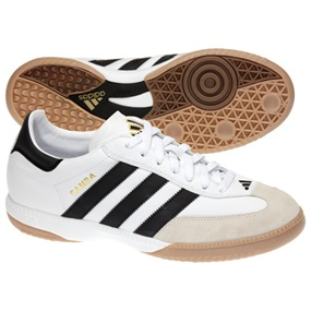 Adidas Samba Millennium Indoor Soccer Shoes (White)