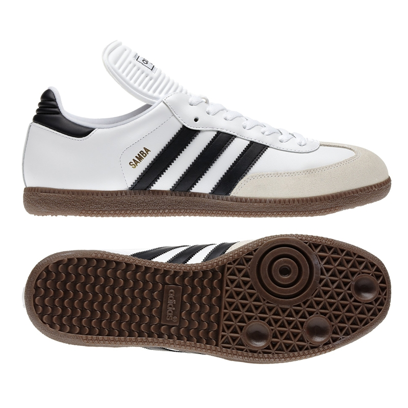 retail prices wholesale outlet big discount Adidas Samba Classic Indoor Soccer Shoes (Running White/Black)