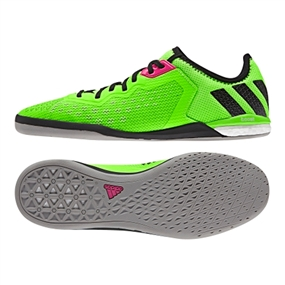 Adidas ACE 16.1 Court Indoor Soccer Shoes (Solar Green/Black/Night Metallic)