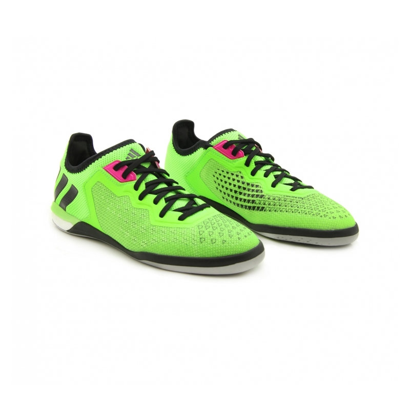 94084f179 Adidas ACE 16.1 Court Indoor Soccer Shoes (Solar Green Black Night ...