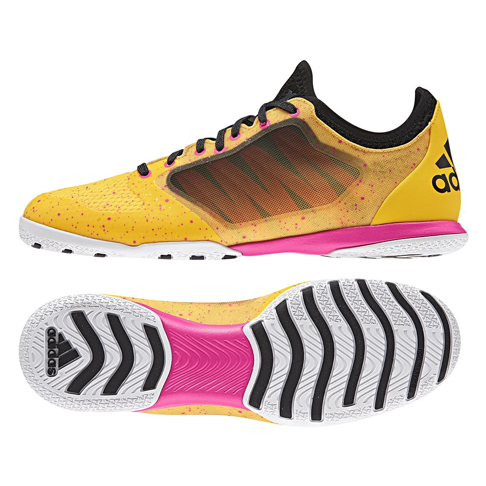 45961a497bc3 X 15.1 CT Indoor Soccer Shoes (Solar Gold Black Shock Pink)