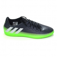 Adidas Messi 16.3 Indoor Soccer Shoes (Dark Grey/Silver Metallic/Slime Green)