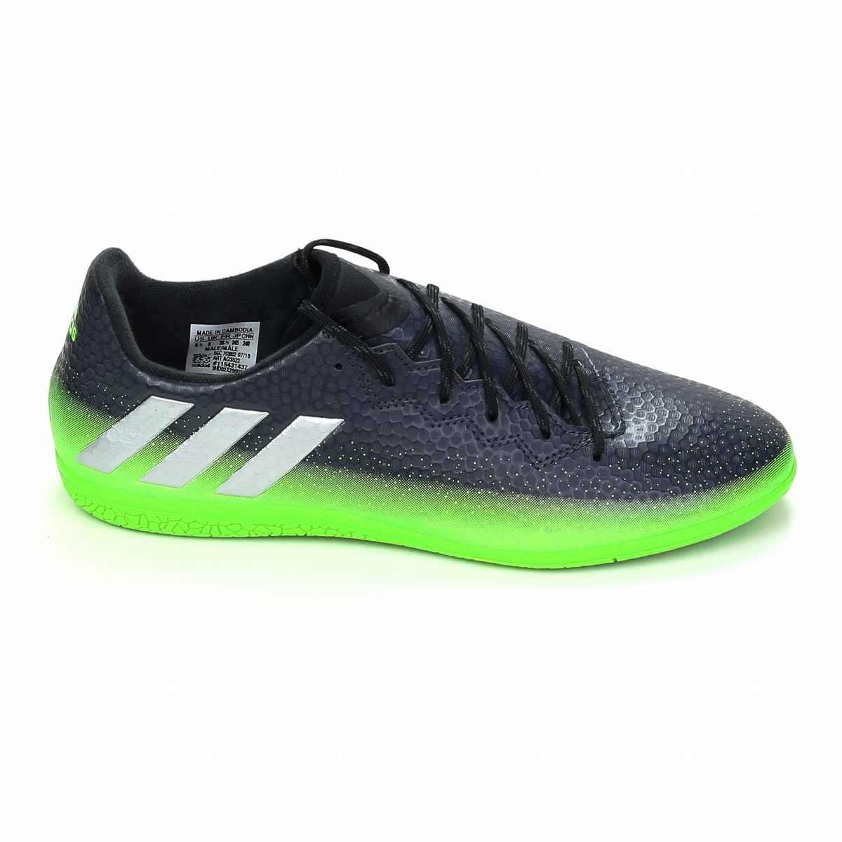 862e2f24b1f Adidas Messi 16.3 Indoor Soccer Shoes (Dark Grey Silver Metallic ...